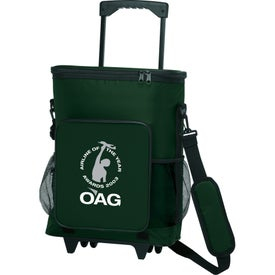 30-Can Rolling Insulated Cooler Bag with Your Slogan