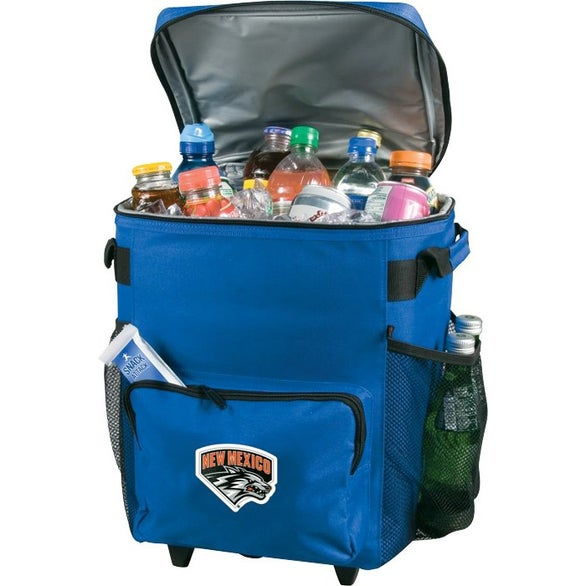 Royal Blue 48 Can Rolling Cooler Bag