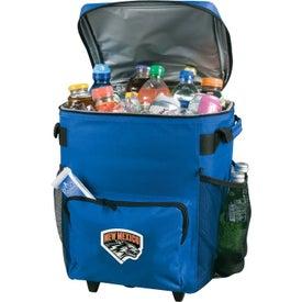 Logo 48 Can Rolling Cooler Bag