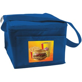 Personalized 6 Can Collapsible Cooler Lunch Bag with Carry Strap