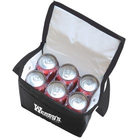 6 Can Collapsible Cooler Lunch Bag with Carry Strap for Promotion