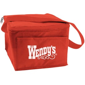 6 Can Collapsible Cooler Lunch Bag with Carry Strap Printed with Your Logo