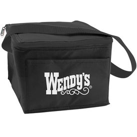 6 Can Collapsible Cooler Lunch Bag with Carry Strap Branded with Your Logo