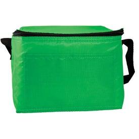Printed 6 Pack Nylon Cooler Bag