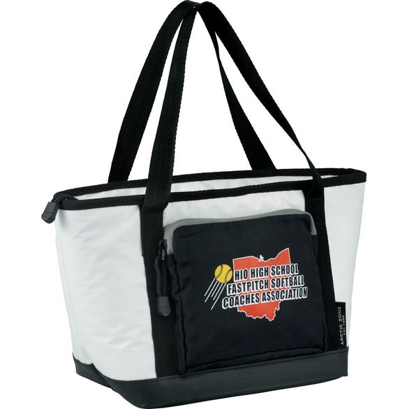 White / Black Arctic Zone Titan Deep Freeze 2 Day Lunch Cooler Bag