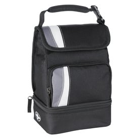 Imprinted Arctic Zone Dual Compartment Lunch Cooler