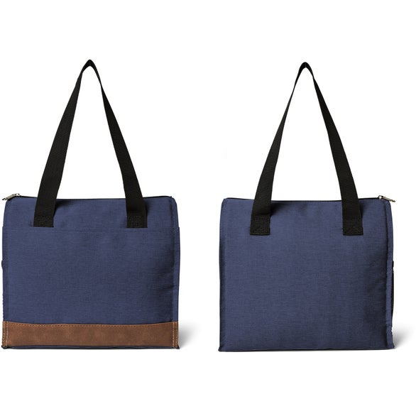 Navy Blue Asher 12 Can Cooler Tote Bag