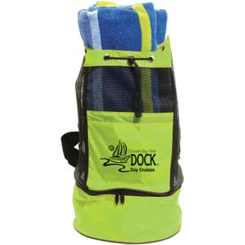 Printed Backpack Cooler Bag