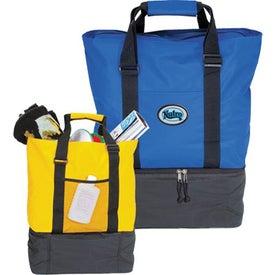 Logo Beach Tote Cooler Bag