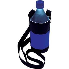 Imprinted Bottle Caddy with Neck Strap