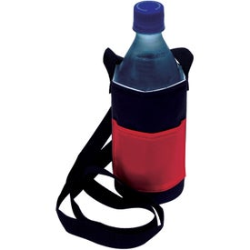 Logo Bottle Caddy with Neck Strap