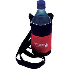 Bottle Caddy with Neck Strap with Your Slogan