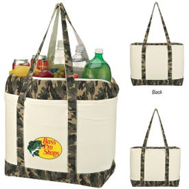Camo Canvas Cooler Tote Bag