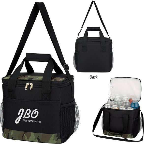 Black / Camouflage Camouflage Accent Cooler Bag