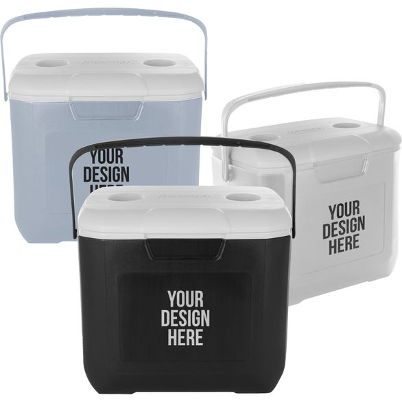 Black Coleman 30-Quart Chest Cooler