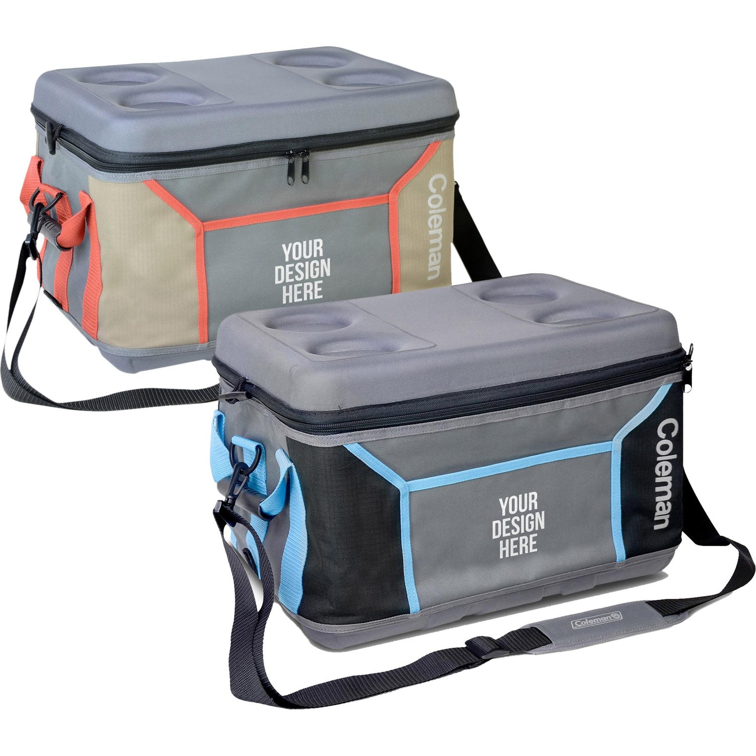 Custom Can Coolers ~ Promotional coleman can sport collapsible soft coolers