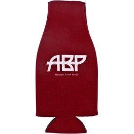 Promotional Collapsible Zip-Up Bottle Koozie Kooler
