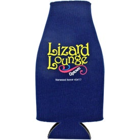 Branded Collapsible Zip-Up Bottle Koozie Kooler