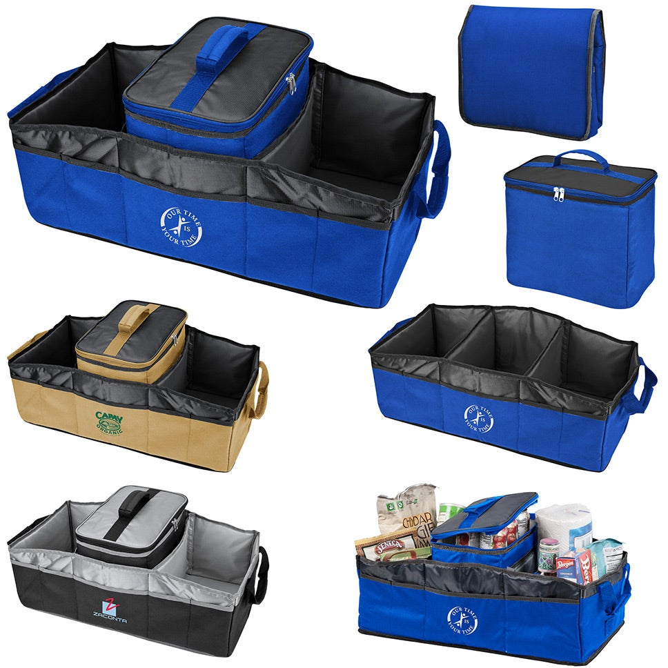 Collapsible 2 in 2 Trunk Organizer Cooler