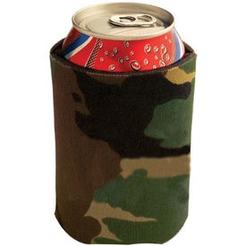 Collapsible Foam Kan Cooler Camo Imprinted with Your Logo