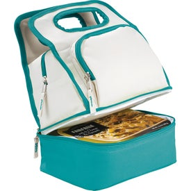 Monogrammed Color Dip Dual Compartment Lunch Cooler