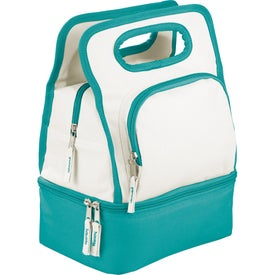 Custom Color Dip Dual Compartment Lunch Cooler