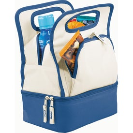 Color Dip Dual Compartment Lunch Cooler for Advertising