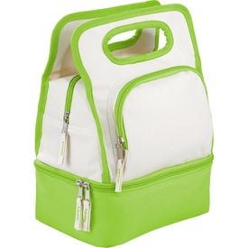 Customized Color Dip Dual Compartment Lunch Cooler