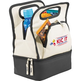 Color Dip Dual Compartment Lunch Cooler for Promotion