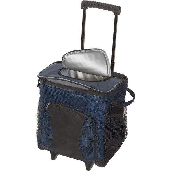 Navy Diamond Collection 42-Can Rolling Cooler