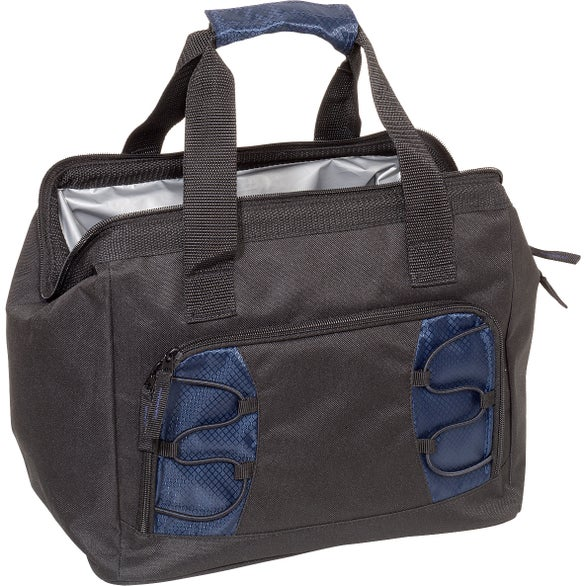 Navy Diamond Collection Large Cooler Bag
