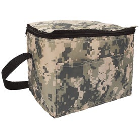 Personalized Digital Camo 6 Pack Cooler Bag