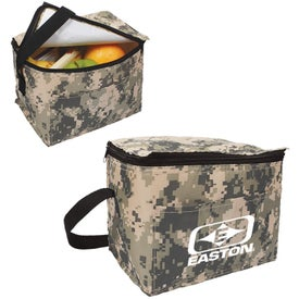 Digital Camo 6 Pack Cooler Bag with Your Logo