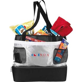 Double Decker Cooler Tote Printed with Your Logo