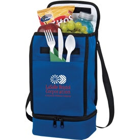 Advertising Dual Compartment Insulated Lunch Bag