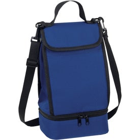 Dual Compartment Insulated Lunch Bag for Promotion