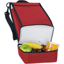 Monogrammed Dual Compartment Insulated Lunch Bag