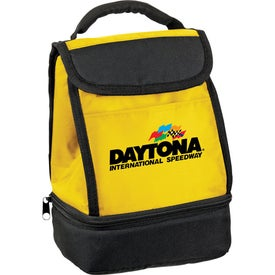 Customizable Dual Compartment Insulated Lunch Bag Giveaways