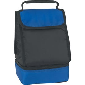 Branded Dual Compartment Lunch Bag