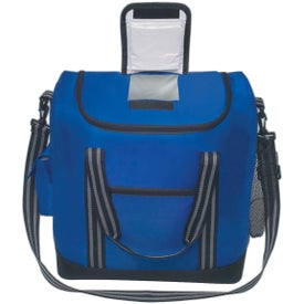 Advertising Flip Flap Insulated Kooler Bag with Strap