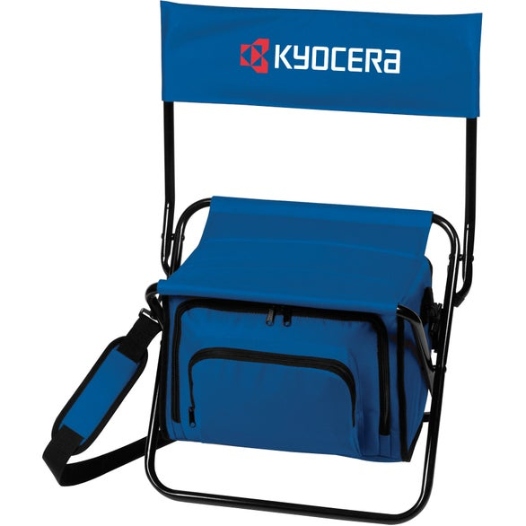 Blue Folding Insulated Cooler Chair