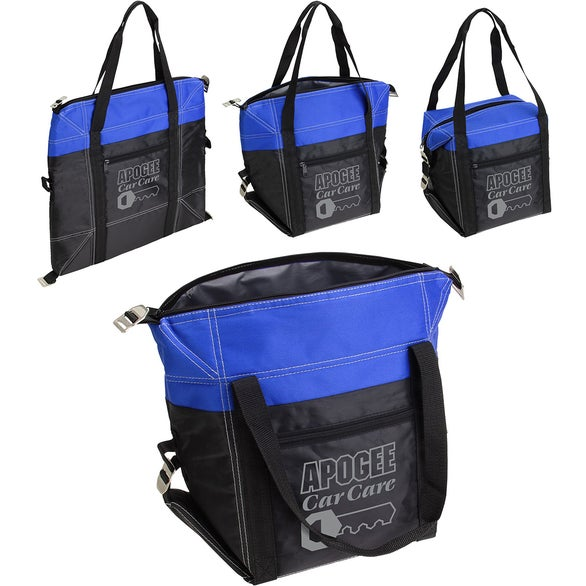 Black / Blue Glacier Convertible Cooler Bag