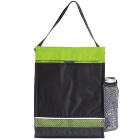 Monogrammed Icy Bright Lunch Sack