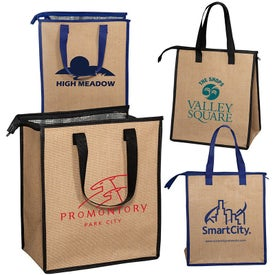 Jute Cooler Tote Bag