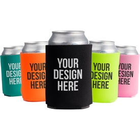 Collapsible Foam Can Cooler for Advertising
