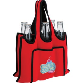 Branded Koozie 6 Pack Bottle Carrier