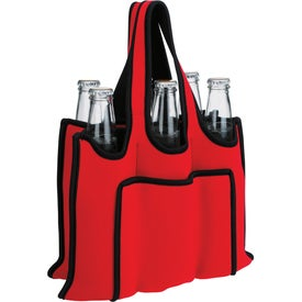 Advertising Koozie 6 Pack Bottle Carrier