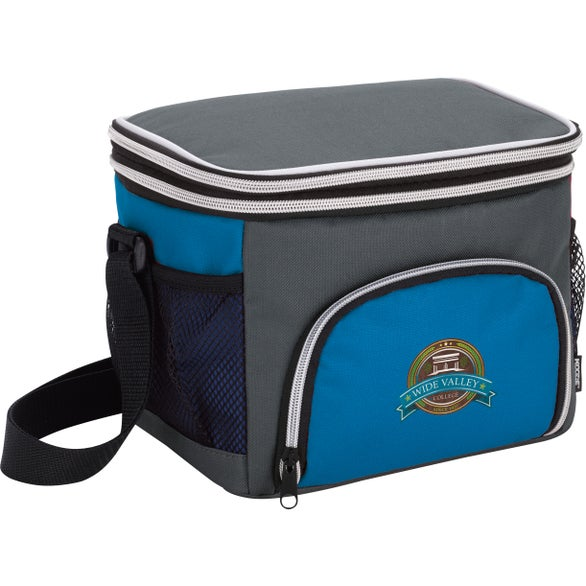 Royal / Gray Koozie Expandable Lunch Kooler Bag