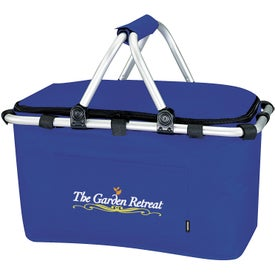 Koozie Picnic Basket Imprinted with Your Logo
