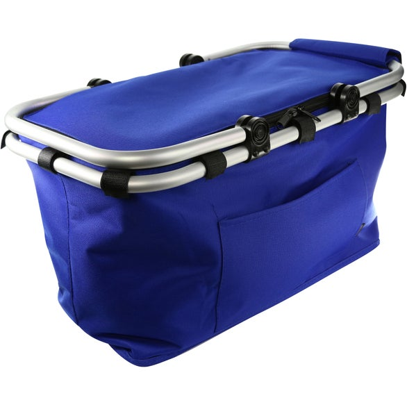 Royal Blue Koozie Picnic Basket